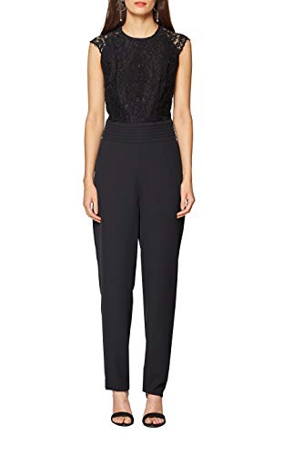 ESPRIT Collection Damen 118EO1F025 Jumpsuit, Schwarz (Black 001), 38
