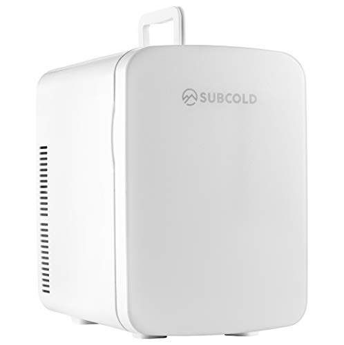 Subcold Ultra 15 Mini Fridge Cooler & Warmer   3rd Gen   15L capacity   Compact, Portable and Quiet   AC+DC Power Compatibility (White)