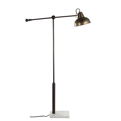 Casa Vivante staande lamp Vita Goldfearben ijzer met marmeren voet - 80 x 21 x 147 cm - vloerlamp - plafondschijnwerper