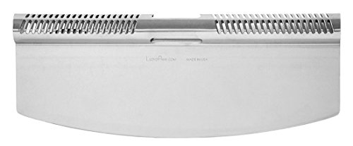 LloydPans Kitchenware 14 inch Pizza Cutter Rocker Knife, Made in the USA