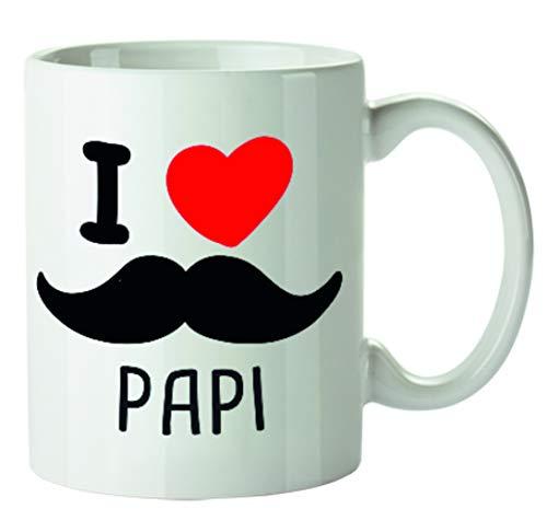 Kembilove Tazas de Desayuno Originales para Padres – Taza con Mensaje I Love Papi – Taza de Desayuno para Regalar el día del Padre – Tazas de Café para Padres y Abuelos