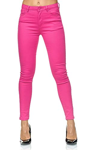 Elara Damen Jeans High Waist Push Up Effekt Chunkyrayan K232-25 Pink-34 (XS)