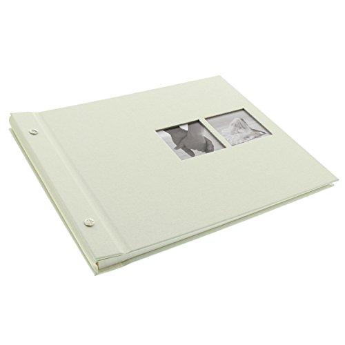 Goldbuch Schraubalbum mit Fensterausschnitt, Chromo, 30 x 25 cm, 40 weiße Seiten mit...