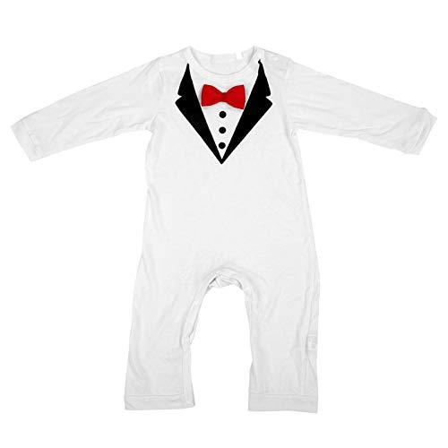 SALUTUYA Ropa para niños(White Red Bow Tie, 80)