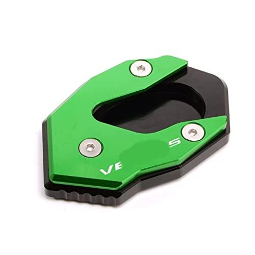 QTSM Plataformas para K-awasaki Versys 300 VERSYS X300 Versys X250 Soporte Lateral De Extensión De Soporte De Motocicleta Almohadilla De Ampliación (Color : Green Black)