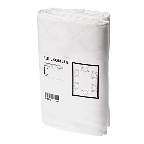 IKEA FULLKOMLIG Tischdecke in weiß; (145x240cm)
