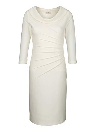 Alba Moda Damen Kleid Off-White 46