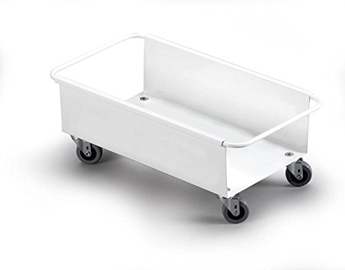 Durable 1801666010 Fahrwagen Durabin für 60 Liter, 1 Stück weiß