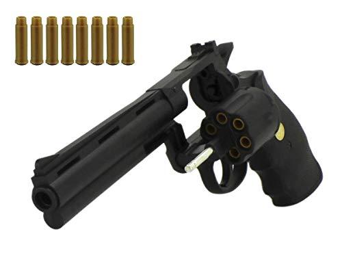 VIKING GEAR® Airsoft Revolver Kalber 6 mm BBS - Softair Pistole + Munition und Patronen - Magazin - <0,5 Joule - Soft Air ab 14 Jahren - Original 1:1