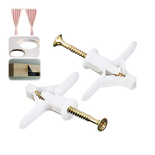 Gipskartondübel & Schrauben, Dehnschrauben, M8 x 50 mm, Gipskartondübel 50 Stück, für einfache Montage in Gipskarton- und Gipsfaserplatten