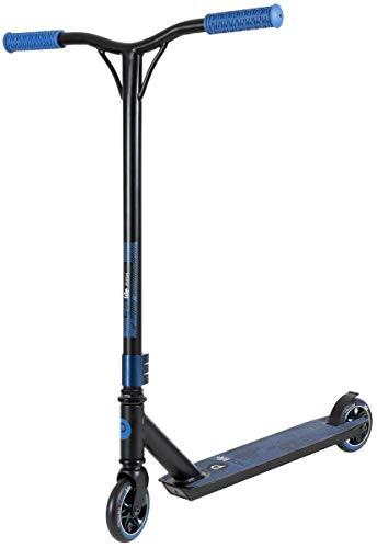 Playlife Stunt Scooter Push, Freestyle Pro-Scooter für Einsteiger und Fortgeschrittene, 110mm PU Wheels, ABEC7 Kugellager, ideal für Tricks geeignet (schwarz/blau)