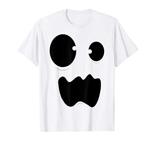Disfraz de fantasma Cara de fantasma divertido Halloween Camiseta