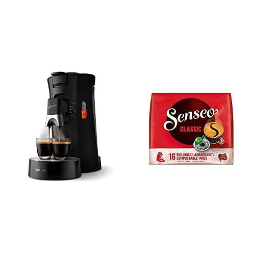 Philips Senseo Select CSA240/60 Kaffeepadmaschine (schwarz) + Senseo Pads Classic, 160 Kaffeepads, 10er Pack, 10 x 16 Getränke