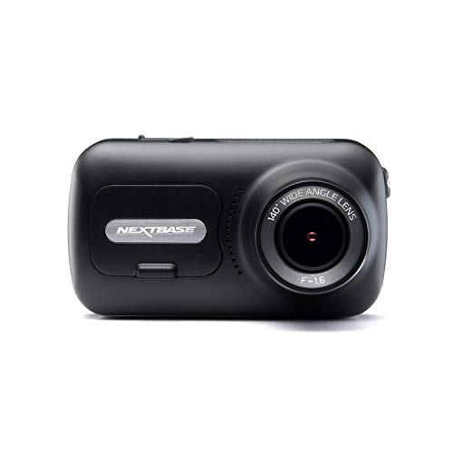 Nextbase 322GW - Dash Cam, Car Dash Camera - Full 1080p/30fps HD Recording DVR Cam - 140 degrees Wide Viewing Angle - Wi-Fi & Bluetooth - GPS - SOS Emergency - Black (Renewed)