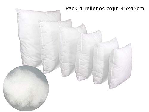 ForenTex Pack 4 Relleno Cojines 45x45 cm Fimullido