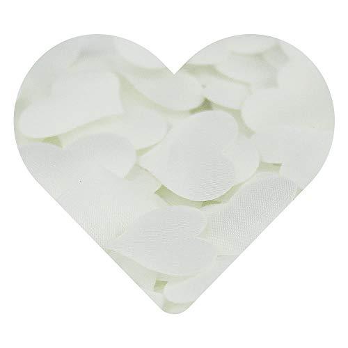 DEKOWEAR® hart zijden kussen strooidecoratie | Om te strooien op tafels als decoratie voor bruiloften, verjaardagen en andere feestelijkheden | handgemaakte harten [meerkleurig, 100 stuks]