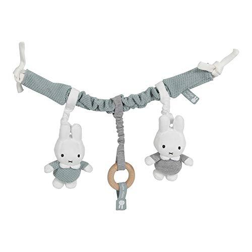 Tiamo NIJN667 Miffy Hase Strick Kinderwagenkette Spielzeug für die Babyschale stonegreen
