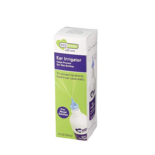 Ezy Dose Ear and Ear Wax Cleaner for Humans | Solution with Tri-Stream Tip | Safe and Antibacterial
