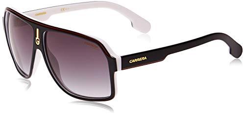 Carrera Men's CA1001/S Pilot Sunglasses, Black White/Dark Gray Gradient, 62 mm