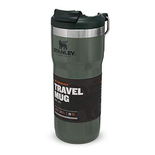 Stanley Classic Twinlock Travel Mug mit Edelstahlbügel 473 ml / 16OZ Hammertone Green - Doppelwandiger, vakuumisolierter Kaffeebecher für Kaffee, Tee & Wasser | Hält heiß oder kalt | BPA-frei