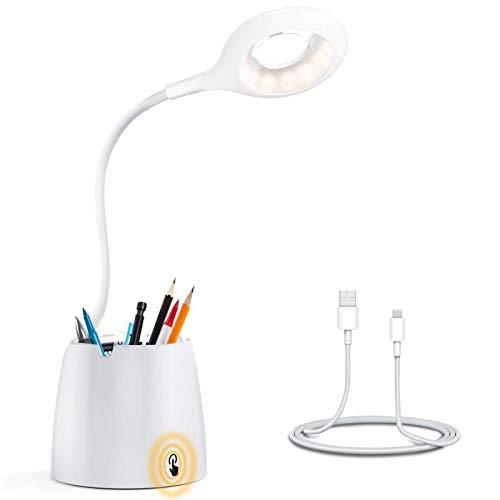 Lampada da tavolo, lampada da tavolo a LED ricaricabile USB AWJGVBOY, lampada da tavolo wireless con sensore touch, adatta per la notte, bambini, lettore di apprendimento. Camera da letto a casa.