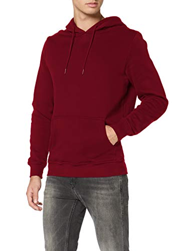 Urban Classics Organic Basic Hoody Sudadera con capucha, granate, XXL para Hombre