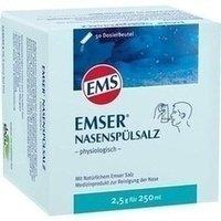 Emser Nasenspülsalz physiologisch – Nasendusche bei Erkältung, Allergie und zur Nasenpflege – 50 x 2,5 g Beutel