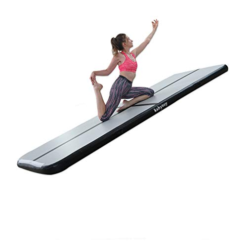 kxbyToy 10ft/13ft/16ft/20ft Gymnastics Air Mat Tumble Track Tumbling Mat Inflatable Floor Mats with Electric Air Pump