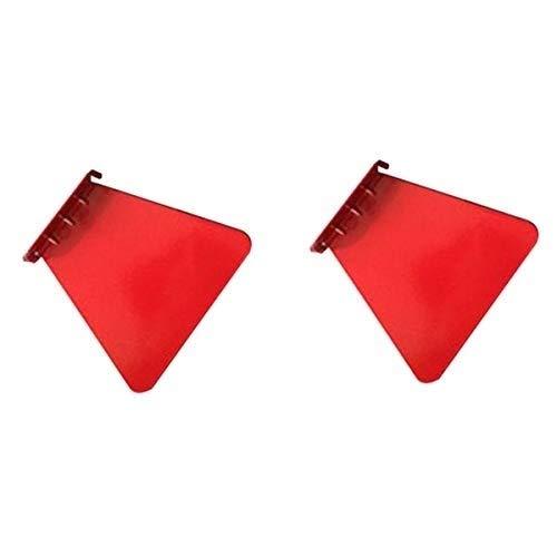 Potlood Hoes-Pen Houder-Stationery-Art benodigdheden Prachtige en Duurzame 2 PCS RVS Muur Onzichtbare Boekenplank Huisdecoratie Drijvende Boekenplank (wit) Rood