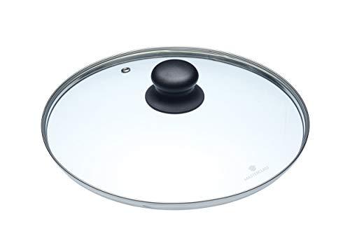KitchenCraft MasterClass Tapa de Vidrio de 24 cm Diseñada para Cacerolas y Sartenes de 26 cm