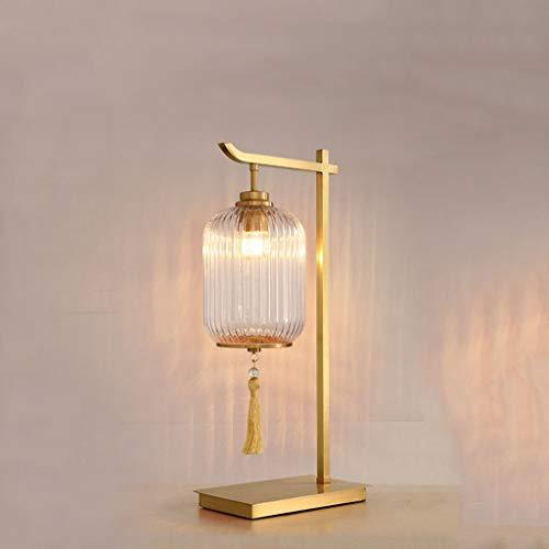 Lámpara de Mesa Sala de estar Sofá Lámpara de mesa de café de la lámpara Estilo Nuevo chino dormitorio Mesita una decoración minimalista moderna del estilo chino Zen Luxury Light Lámparas de Escritori