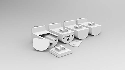 Plisse-rollo Easyfix Montage ohne Bohren (Zubehör, Pleatfix - Halterungen Set / 4 Stück) Plissee Jalousie mit Klemmfix | Sonnenschutzrollo Seitenzugrollo Faltrollo Klemmträgern für Fenster / Tür
