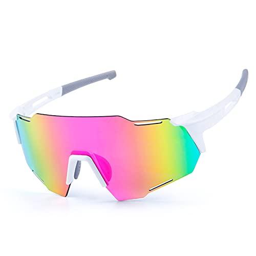 ZYUJ Gafas de Sol de Ciclismo para Hombres, Gafas de Ciclismo Deportes polarizadas Gafas de Sol Riding Gafas de Sol Gafas de Bicicletas Sports al Aire Libre Golf Skiing C Pink