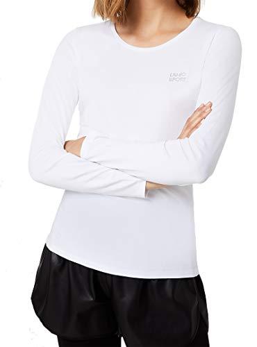 Liu Jo Jeans - Camiseta Liujo Sport Basica ML para mujer, color blanco T69030/J0088 blanco M
