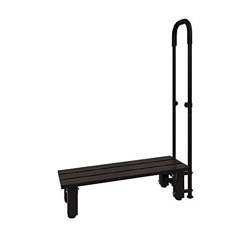 iimono117 手すり付き踏み台 アルミ製 玄関台 踏み台 ステップ台 [ 1段 2段 ] / 手すり 玄関 アルミ昇降 玄関ステップ 昇降補助 段差解消 転倒防止 (1段/片手)