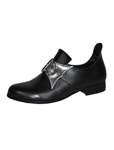 Karneval-Klamotten Prinzenschuhe schwarz Schuhe Prinz Gardeschuhe Mittelalter-Schuhe Größe 42/43