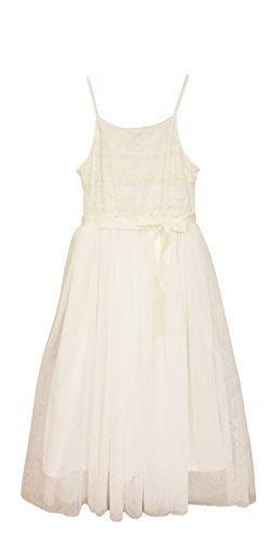 ZUNIE Mädchenkleid, Spitze, Größe 40, elfenbeinfarben