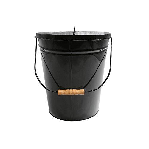 FIREFIX Ascheeimer, 12,5 Liter, oval, schwarz