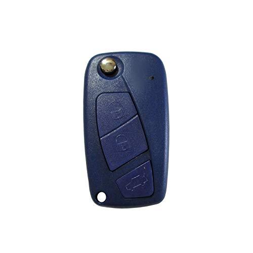 UTS-Shop Carcasa para llave, llave plegable, tres botones, compatible con FIAT Panda Punto Qubo Ducato Stilo Iveco Daily modelo de la serie