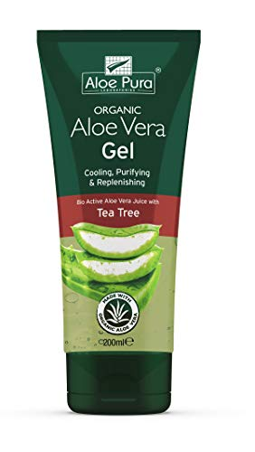(3er BUNDLE)   Pura Aloe Aloe Vera Gel & Tea Tree 200ml   200ml - Aloe Pura