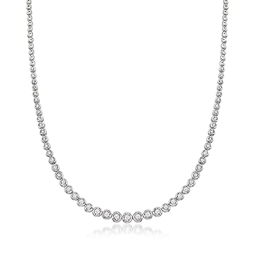 Ross-Simons 1.50 ct. t.w. Bezel-Set Diamond Necklace in Sterling Silver. 16 inches