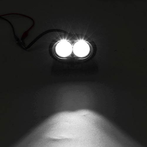 Luces de motocicleta de 12 V, luz de trabajo LED, impermeable, IP67, universal, color blanco