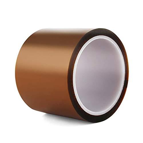 DJ002 Klebeband Widen braun Hochtemperaturbandbandleitung Bandage Polyimid hoher Temperatur Isolierband 33 Metern Lotes Maskieren (Size : 70mm)