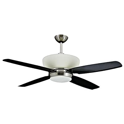Yosemite Home Decor Zephyr Bn 52 Inch Ceiling Fan With Light Kit Brushed Nickel Where To Buy