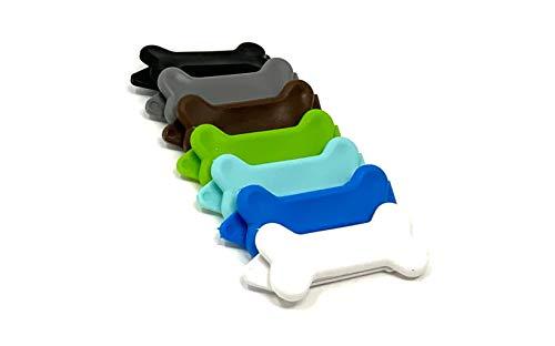 Camtiac Hunde-Haarspange Knochen Hundeknochen 7 Stück Farbvariante Rüde