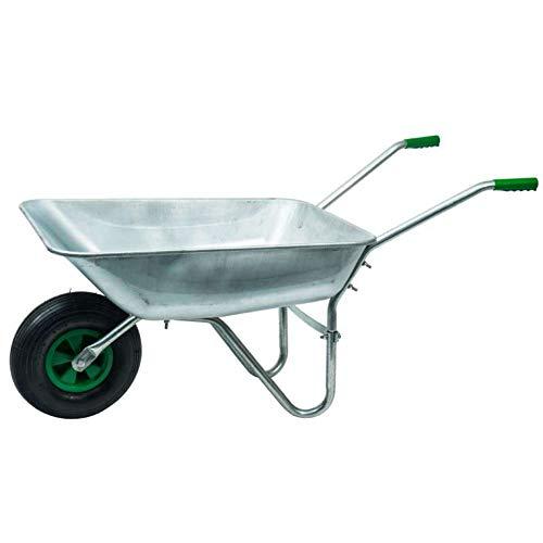 WerkaPro 10374 - Brouette en Acier Galvanisé - Charge Max 200 Kg - Idéale pour le jardinage et la maçonnerie