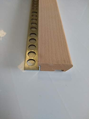 Mamperlán madera Haya para peldaño y escalera (1,00)