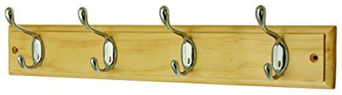 color blanco Perchero Headbourne Hr4069H 2 ganchos dobles, cromo y madera