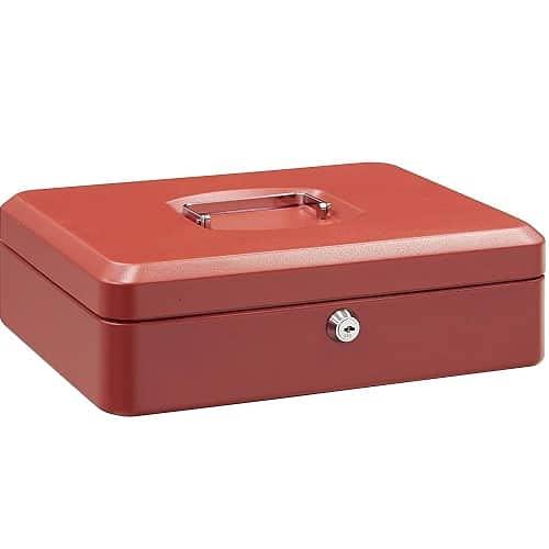 CABLEPELADO Caja fuerte metalica portatil caudales (Gigante, Rojo)