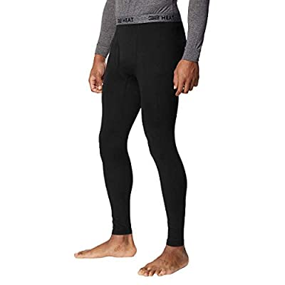 32 DEGREES Mens 2 Pack Heat Performance Thermal Baselayer Pant Leggings, Black/Black, M